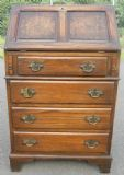 Small Antique Style Oak Writing Bureau by Reprodux